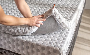 Layla copper cooling mattress topper