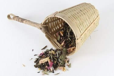woven bamboo basket tea strainer