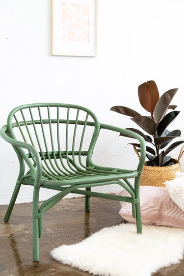 How to Paint an Inexpensive Rattan Chair