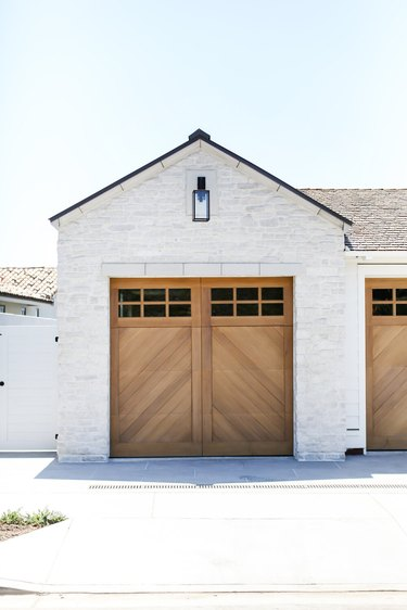 Exterior Garage Lighting on farmhouse exterior with farmhouse style glass lighting