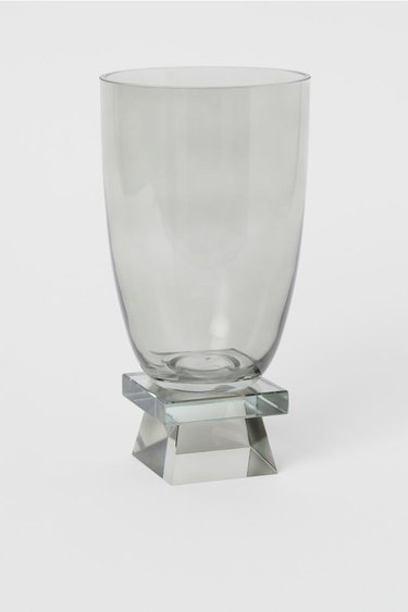 glass vase with square base