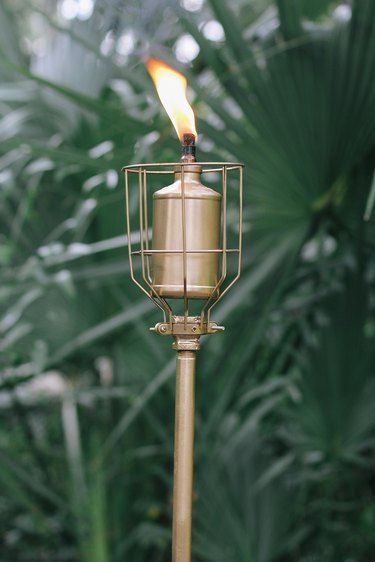 DIY modern outdoor torch