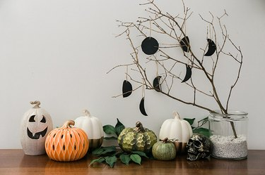 Make your own custom DIY air dry clay ornaments for Halloween.