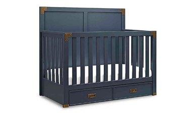 navy blue crib