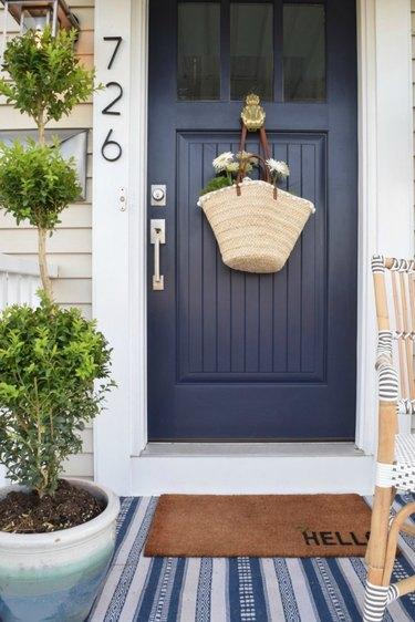 navy blue front door