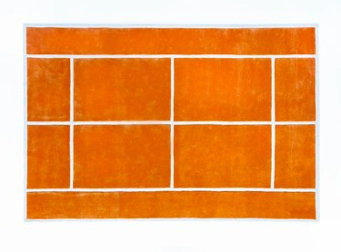pieces tennis court rug