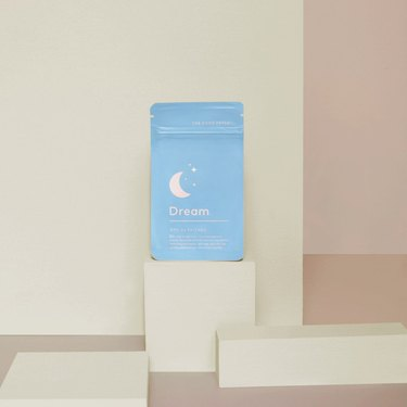 Light blue pack of sleep patches