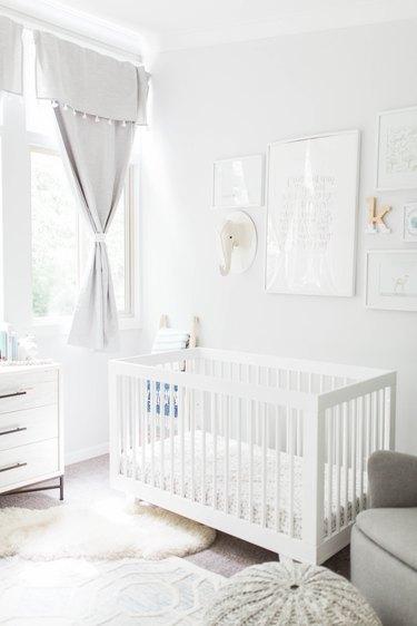 light gray nursery