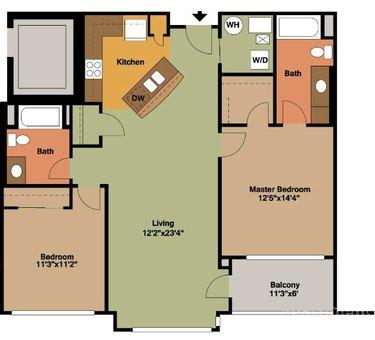 Floor plan of an apartment unit.