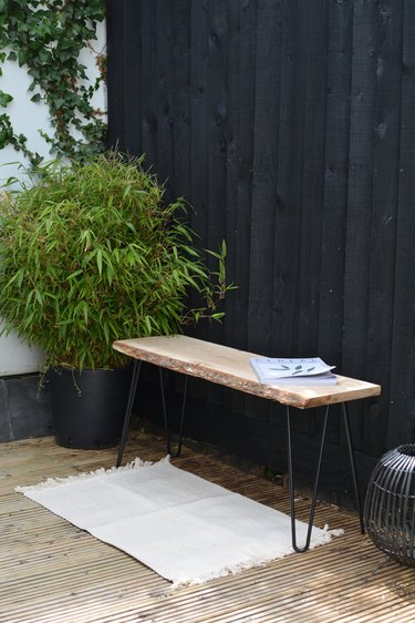 DIY Modern Garden Bench