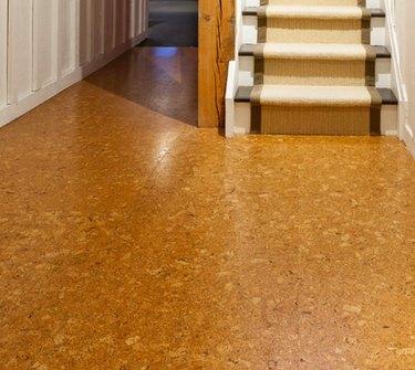 A cork floor.