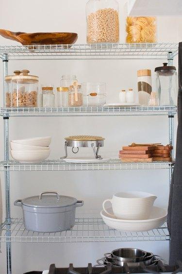 Storage in kitchen.