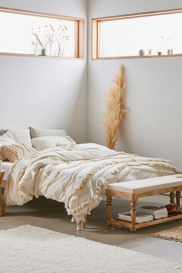boho bedroom space