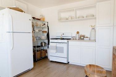 White, minimal kitchen.
