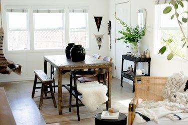 Boho-style dining room