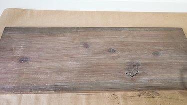 Faux weathered wood finish