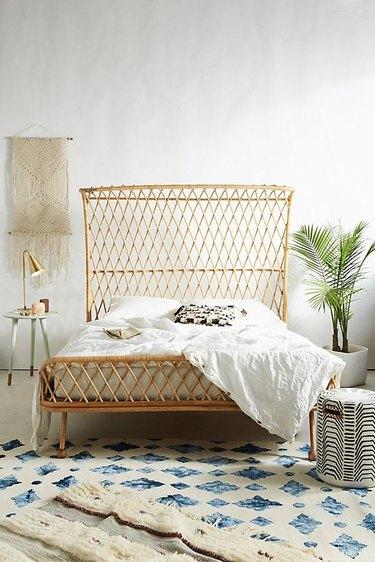 rattan bed