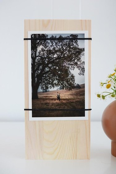 Wood Block Photo Stands