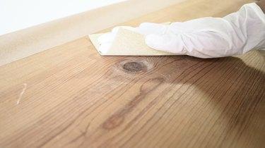 Sanding wood before applying stain