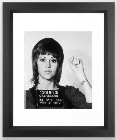 Jane Fonda Anti-War Mug Shot Print