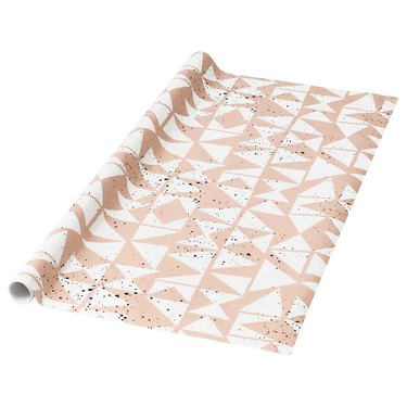 roll of patterned gift wrap
