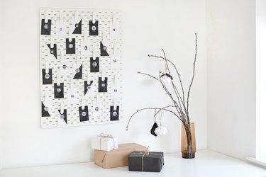 Easily Create a Modern Advent Calendar Using This Cute IKEA Pegboard