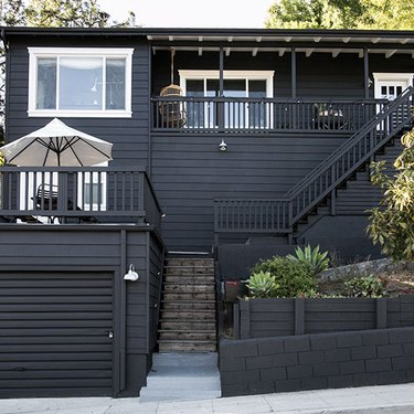 black home exterior for a craftsman style residence