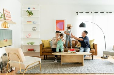 minimal Scandinavian family room ideas