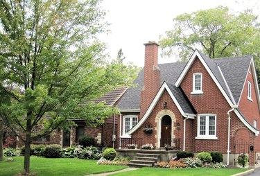 Brick house in quiet neighborhood.