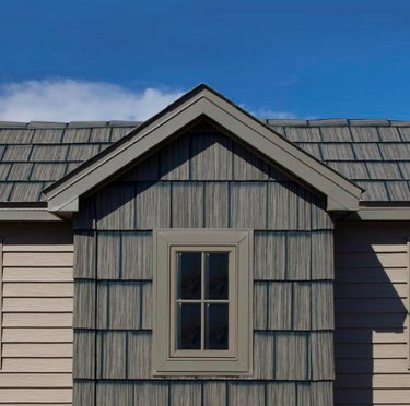 Metal siding and roofing shakes.