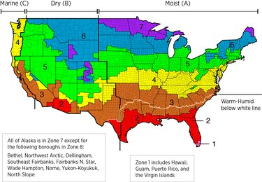 IECC Climate Zone Map.