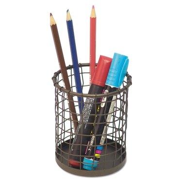 Vintage Wire Mesh Pencil Cup, $8.81