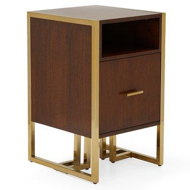 MoDRN 1 Drawer Glam Marion Sleigh Base File Cabinet, $193.68