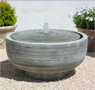 Gray round fountain