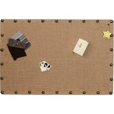 Linon Burlap Nailhead Corkboard, $44.54