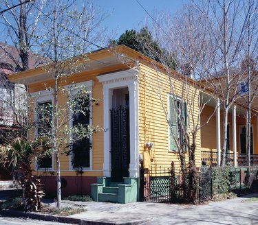 Shotgun house in the Bywater section of New Orleans