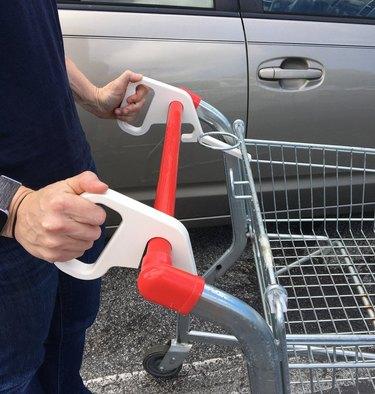 Sanitary shopping cart handles