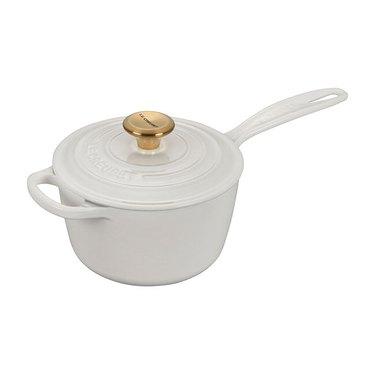 Le Creuset Signature Saucepan with Gold Knob