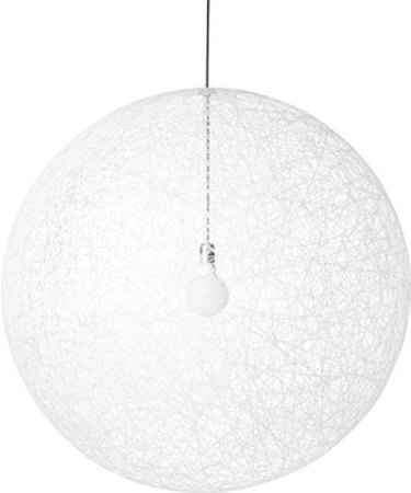 Large white globe pendant, semi-transparent