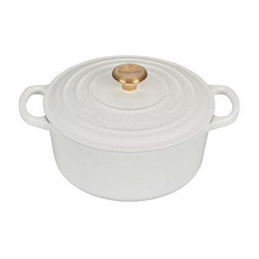 Le Creuset Round Dutch Oven with Gold Knob