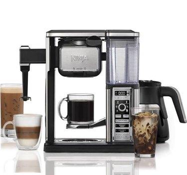 An elaborate coffee machine