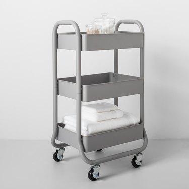 3-tier metal utility cart