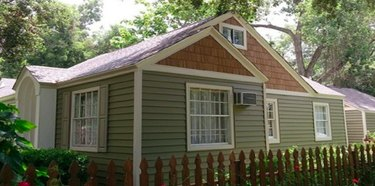 House with vinyl siding.