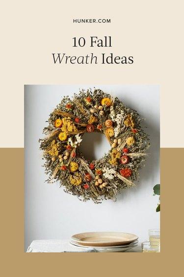 Fall Wreath Ideas That You Can Buy or DIY