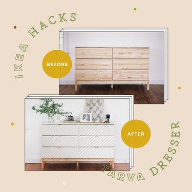 14 Ways to Hack Your IKEA Tarva Dresser