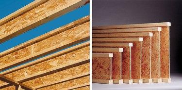 Wood I-joists.