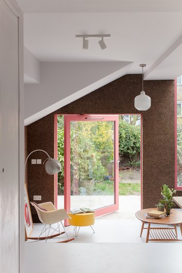 home with cork walls