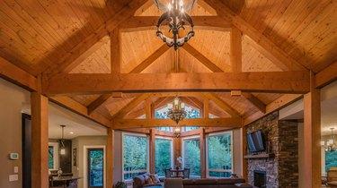 Timber-frame house.