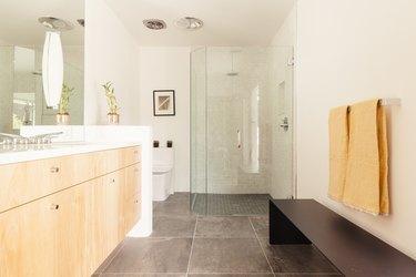 cement bathroom floor