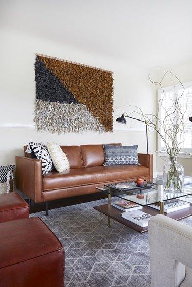 boho living room space